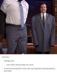 Suit Meme - jimmy fallon wearing shaq s suit jacket shaquille o neal know