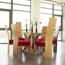 Red Dining Room Sets Modern Wood Dining Tables With Modern Wood Dining Room Chairs