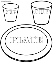 plate coloring page funycoloring