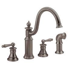 Commercial Grade Kitchen Faucets Moen M Bition 2 Handle High Arc Standard Kitchen Faucet In Chrome
