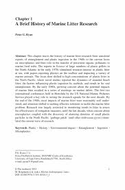 how to write a title page for a research paper a brief history of marine litter research springer inside