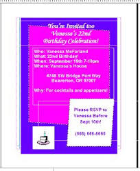 how to create a birthday invitation card using microsoft publisher