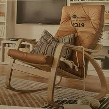 Leather Rocking Chair Poang Leather Rocking Chair Ikea 2017 Furniture Pinterest
