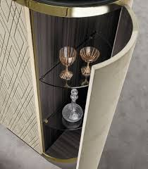 Metal Bar Cabinet Contemporary Bar Cabinet Leather Metal Beverly Y 748 By