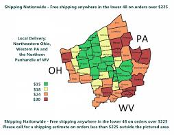 Ohio Pennsylvania Map by Vegan Food U0026 Meals Delivery In Ohio And Pennsylvania