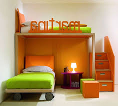bedroom design delightful orange color bunk bed initial name