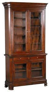 Wooden Bookcase With Glass Doors Glass Enclosed Bookcase Image Of Wood Bookcases With Glass Doors