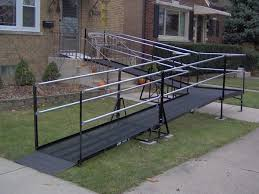 Wheelchair Ramp Handrails 33 Best Wheelchair Ramps Images On Pinterest Wheelchair Ramp