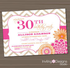 artistic invitations for a 30th birthday party birthday party