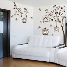 How To Decorate A Birdcage Home Decor Aliexpress Com Buy Birds Flying Back To Birdcage Tree Wall