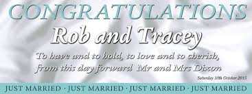 Congratulations Wedding Banner To Have And To Hold Wedding Banner Personalised Banners
