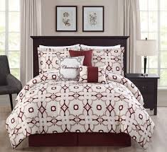 7 piece king elisa bedding comforter set burgundy