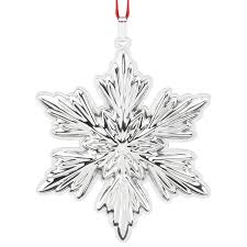 snowflake decorations snowflake ornament 2016 reed and barton christmas