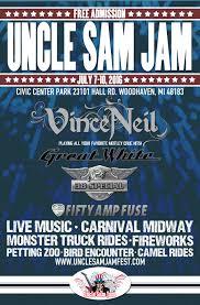 monster truck jam detroit uncle sam jam featuring vince neil wrif rocks detroit