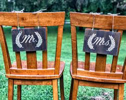 wedding chair signs wedding chair signs etsy