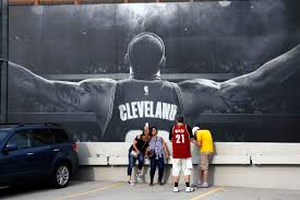 photos cavs parade through cleveland to bring home nba trophy qfm96 cleveland cavaliers fans teig colgrove left and sayeh ashley center of akron