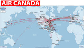 Emirates Route Map by International Flights Air Canada Routes Map