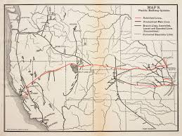 Map Of Nebraska Cities A Brief History Of The Pacific Railway The Transcontinental Railroad