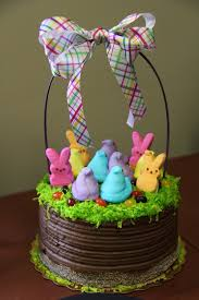 Decorate Easter Cake Ideas by Easter Basket Ideas Peep Easter Basket Cake Diy Easter Craft