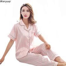 womens pajamas sets silk satin nightwear sleeve