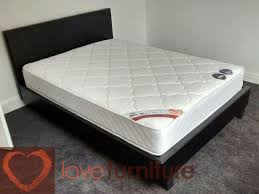 prado gaslift leather double bed 4ft 6in
