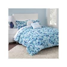 Bedding Sets Blue Seventeen Cerulean Floral Comforter Set Blue Hk642524 Floral