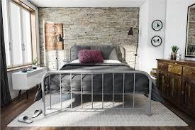 Bedrooms With Metal Beds Dhp Furniture Novogratz Bellamy Metal Bed
