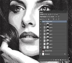 photo engraving free engraved illustration effect for photoshop