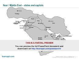 middle east map ppt powerpoint maps of emea europe middle east africa