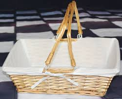 amazon com vintiquewise tm rectangular willow basket with white