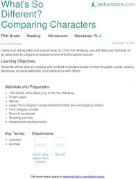 compare and contrast characters education com