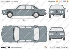 1977 bmw 7 series the blueprints com vector drawing bmw 7 series e23