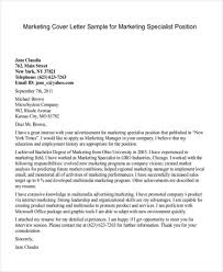 11 marketing cover letter templates free sample example format