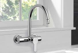 Wall Kitchen Faucet Delta Wall Mount Kitchen Faucet Home Design Ideas Use A Wall