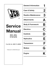 jcb 3 cx backhoe loader service repair manual sn400001 to 4600000