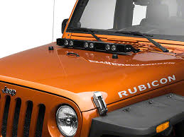 jeep jk hood led light bar delta wrangler silo led e hood light bar 01 9520 esil 07 17