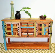 Country Buffet Furniture by Reclaimed Recycled Timber Distressed Country Sideboard Cabinet