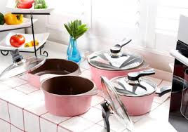 give your kitchen the feminine touch with these cool pink pots and