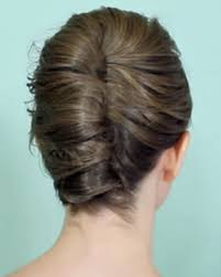 a simple french twist for short hair fashionista
