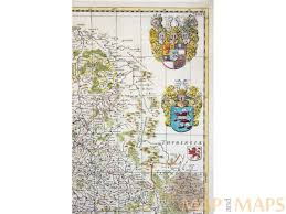 Kassel Germany Map by Germany Antique Map Hassia Landgraviatus Blaeu M U0026m