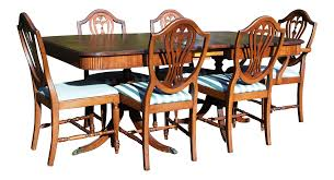thomasville hepplewhite duncan phyfe mahogany dining set table u0026 6