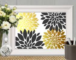 Gold And Black Bedroom by Gold And Black Decor Etsy