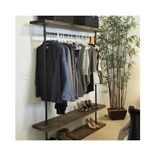 ird triple shelf clothing rack industrial furniture pipe