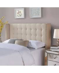 Tufted Upholstered Headboard Shopping S Deal On And Gardens Wingback Tufted