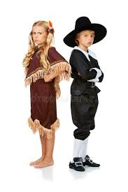 Thanksgiving Pilgrims And Indians Thanksgiving Pilgrim And Indian Arguing Stock Photo Image 44922396