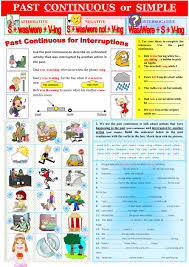grammar rules past continuous vs past simple interactive worksheet
