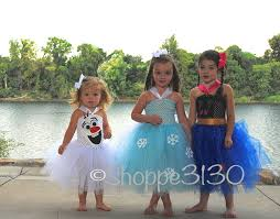 frozen dress for halloween frozen inspired tutu anna elsa olaf inspired tutu costume