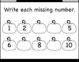 worksheet 612792 kindergarten missing number worksheets
