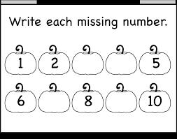 Free Halloween Math Printables by Worksheet 612792 Kindergarten Missing Number Worksheets