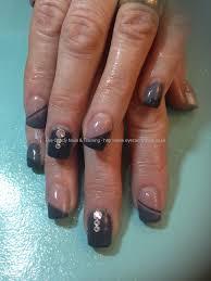 eye candy nails u0026 training acrylics with two tone grey gel